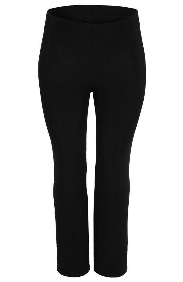 Czarne legginsy z dżetami przy nogawce