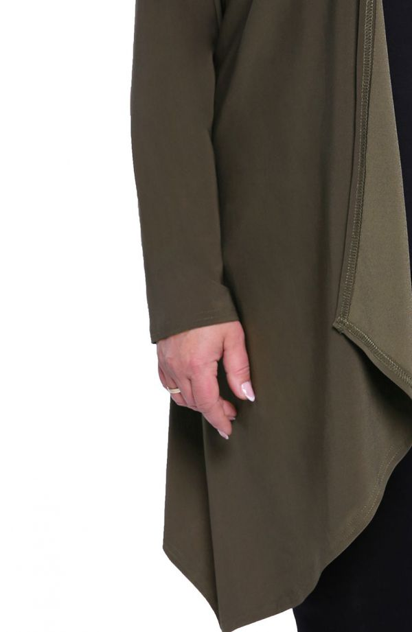 Narzutka z przedłużanymi bokami kolor khaki