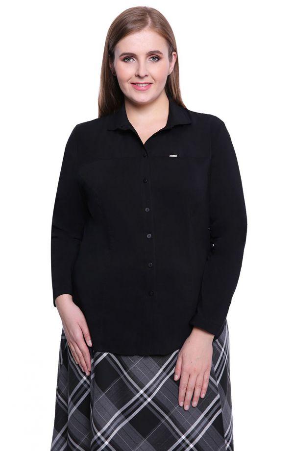 Czarna koszula z długim rękawem
