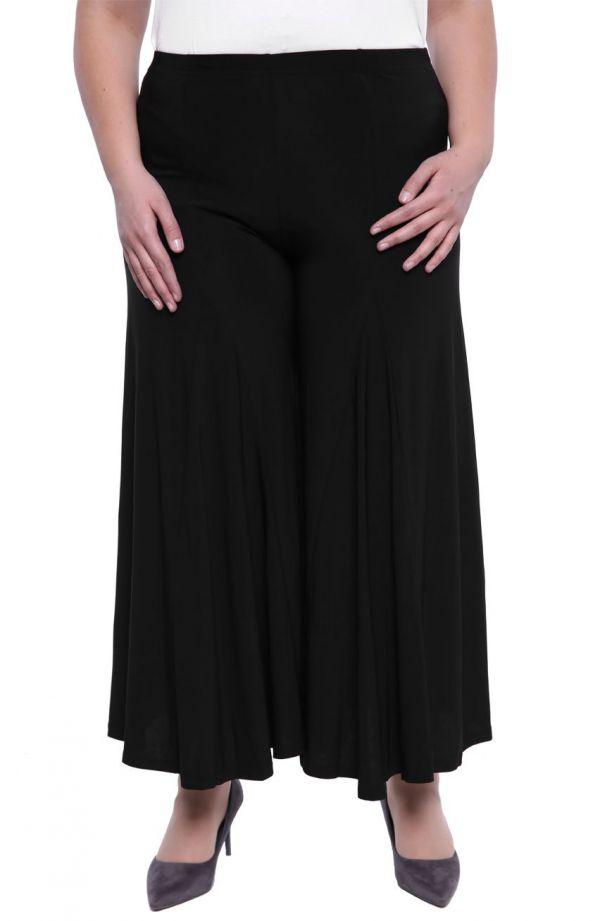 Czarne spódnico-spodnie