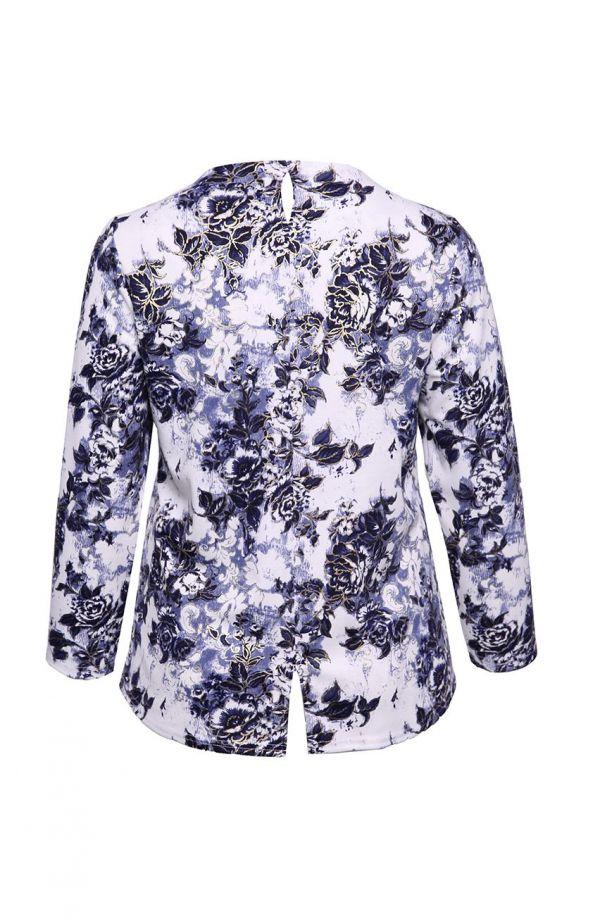 Bluzka ozdobiona pozłacanymi kwiatami