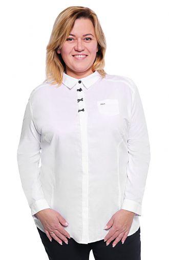 Biała koszula z kokardkami