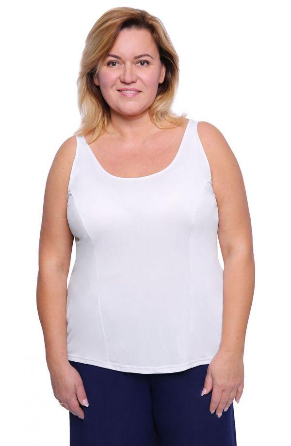 Gładka koszulka w białym kolorze