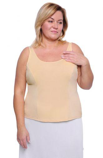 Gładka koszulka w beżowym kolorze Mewa