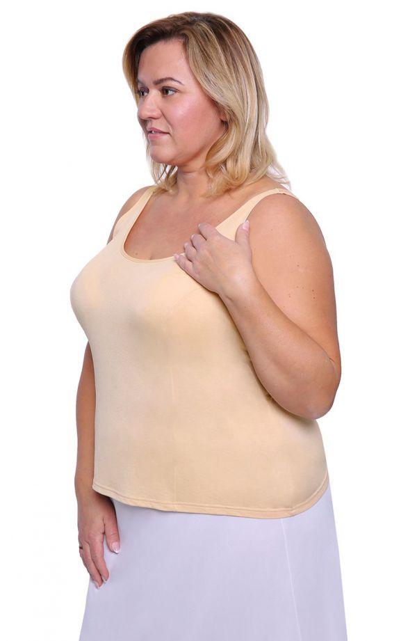 Gładka koszulka w beżowym kolorze