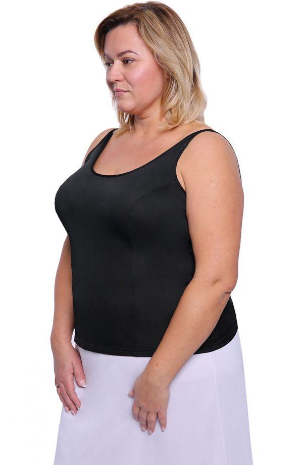 Gładka koszulka w czarnym kolorze