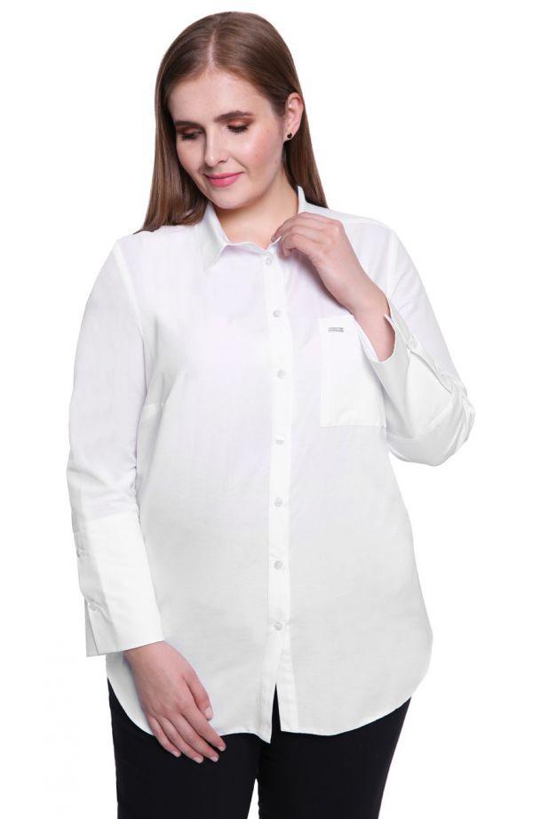 Koszula z mankietami w białym kolorze