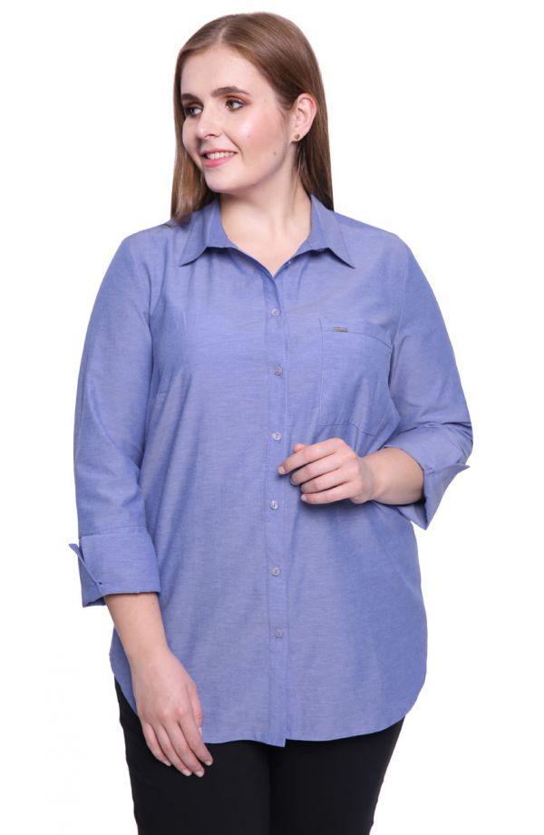 Koszula z mankietami w kolorze jasnego jeansu