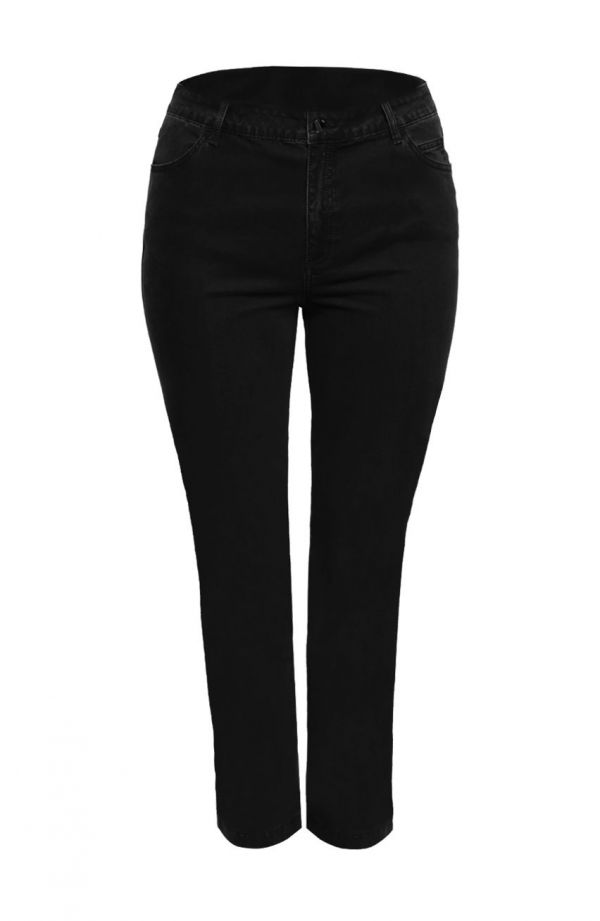 Klasyczne jeansy w czarnym kolorze