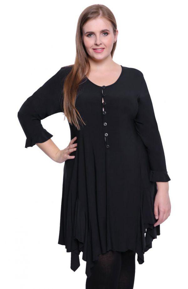 Czarna tunika w stylu hiszpańskim