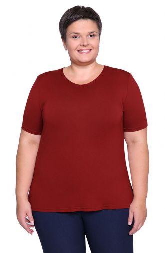Koszulka z wiskozy w odcieniu czerwonego wina