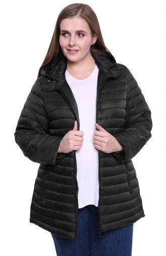 Czarna kurtka z pikowaniem