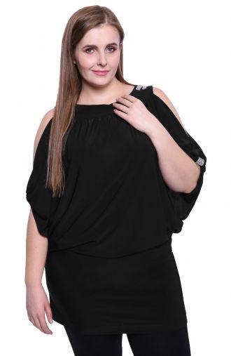 Czarna tunika z oryginalnymi rękawami
