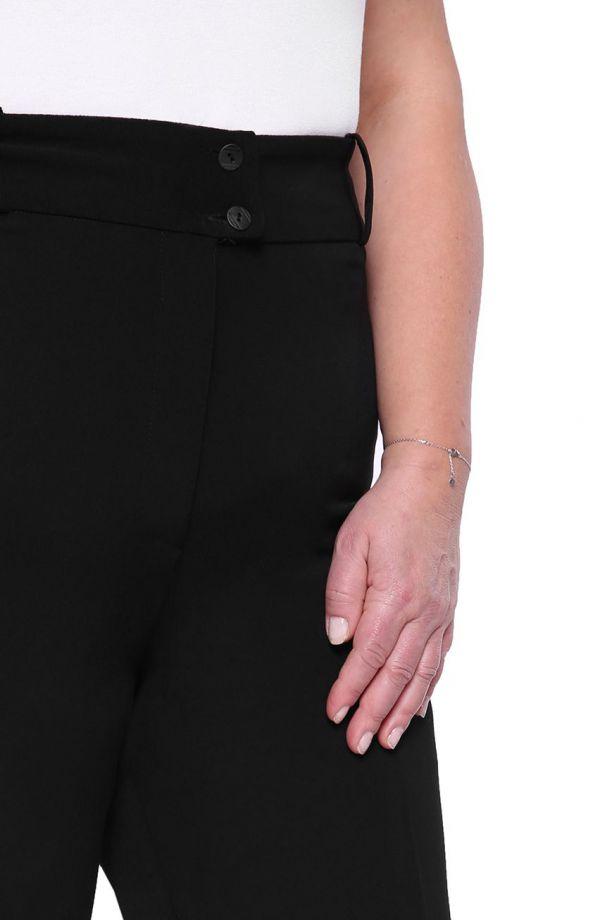 Wyjściowe czarne spodnie w kant