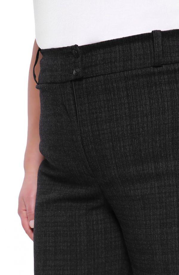 Wyjściowe prążkowane spodnie w kant