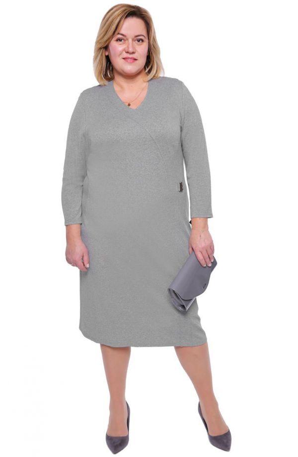 Sukienka z klamerką w kolorze gołębim
