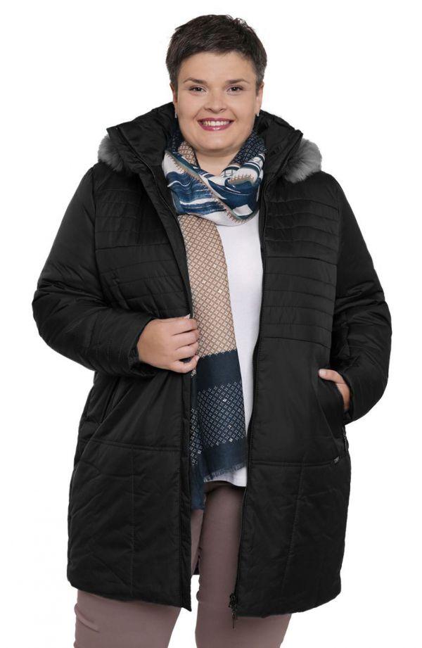 Ciepła kurtka w odcieniu czerni