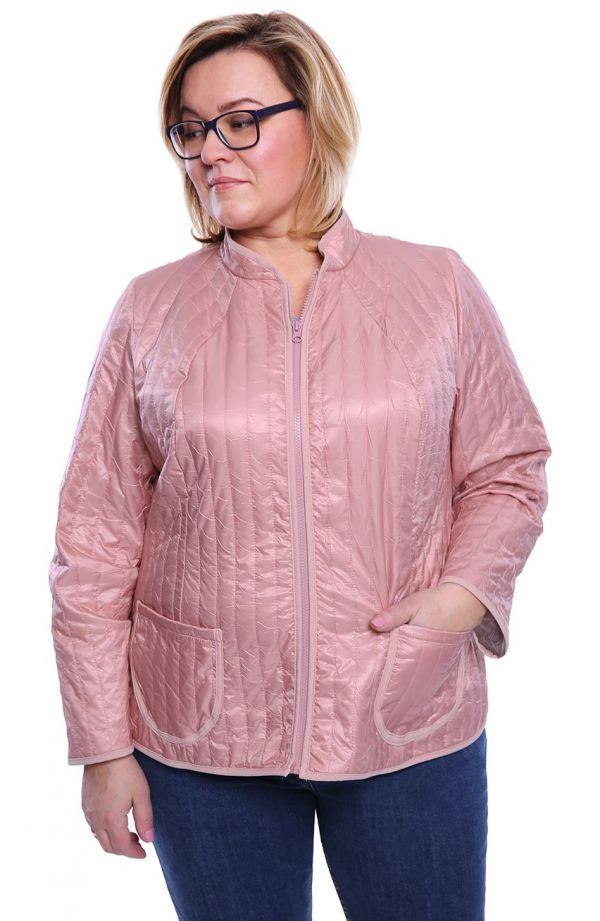 Przejściowa kurtka w jasnoróżowym kolorze