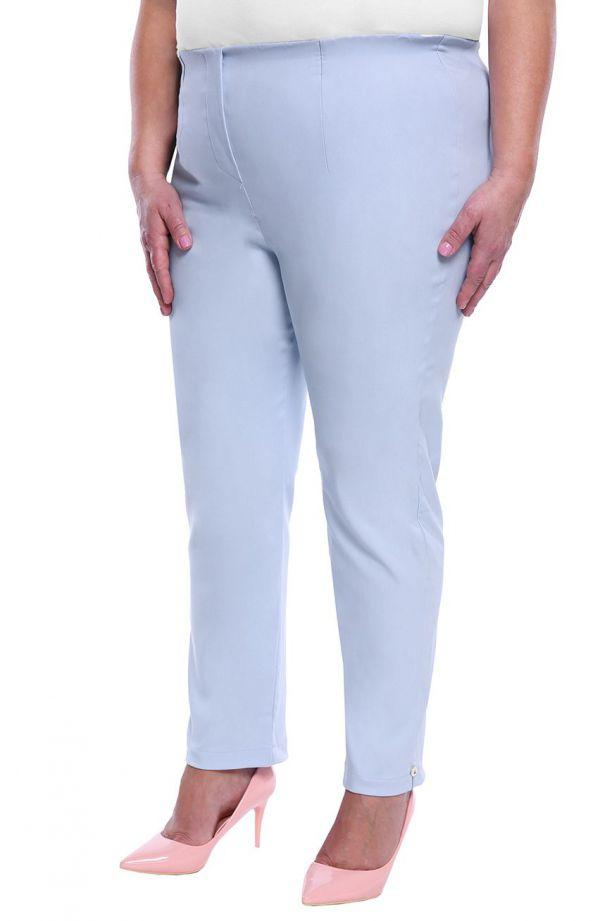 Jasnoniebieskie spodnie 7/8 z wysokim stanem