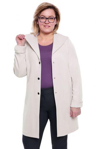 Stylowy płaszczyk w platynowym kolorze
