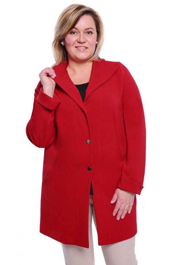 Stylowy płaszczyk w czerwonym kolorze