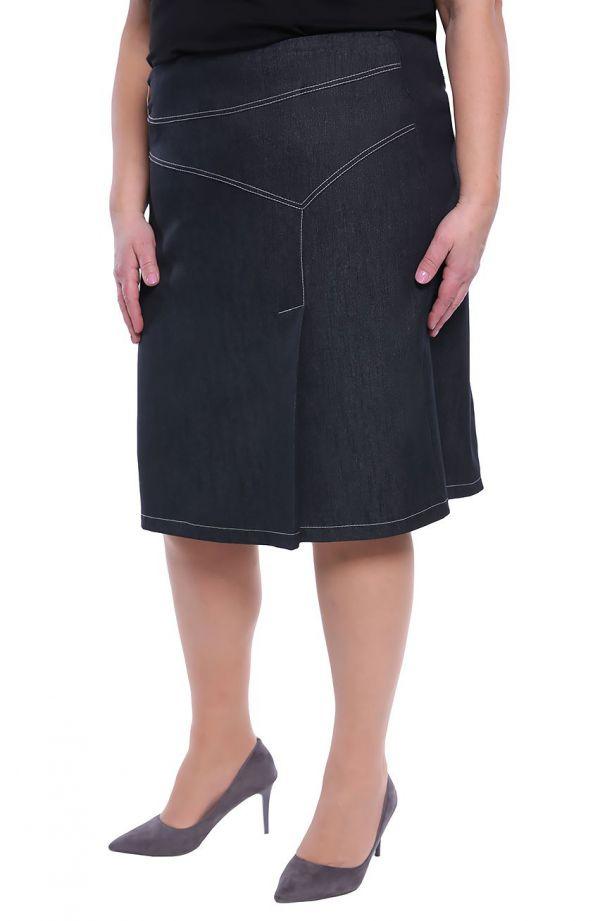 Spódnica z zakładką w kolorze szarego jeansu