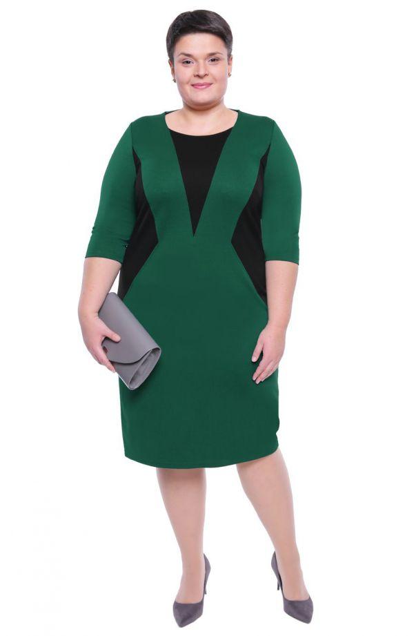 Wyszczuplająca sukienka w zielonym kolorze