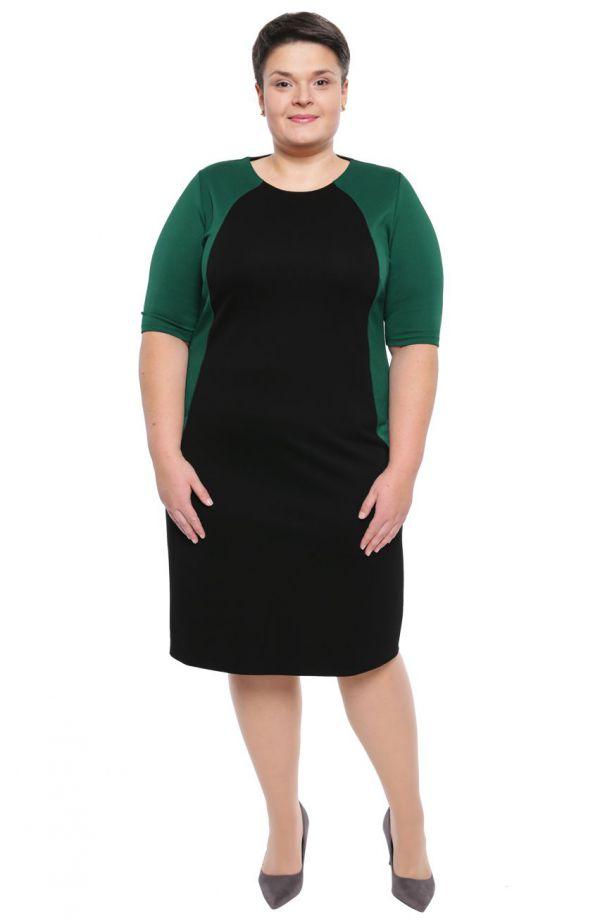 Sukienka w czarnym i zielonym kolorze