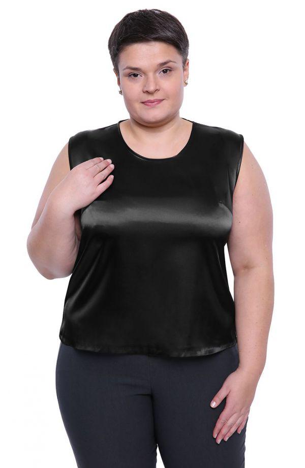 Czarna bluzka bez rękawków