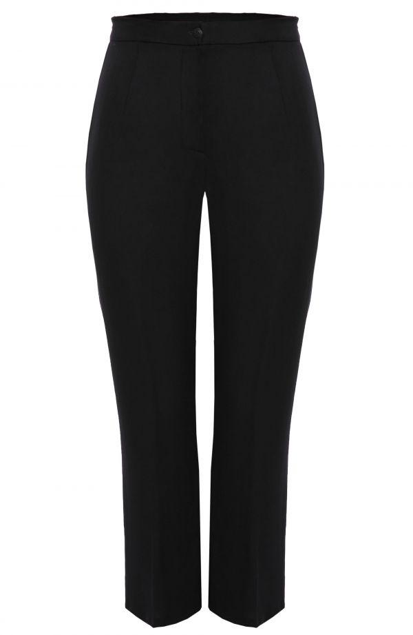 Delikatne spodnie w kant w czarnym kolorze