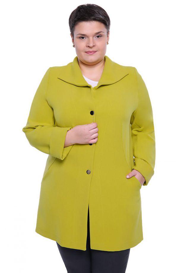 Stylowy płaszczyk w żółtym kolorze