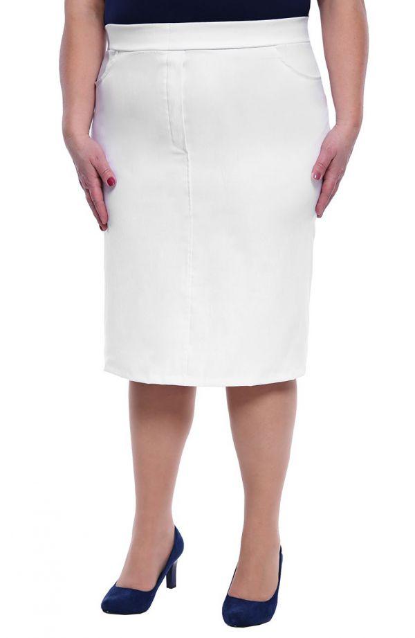 Biała spódnica na gumce