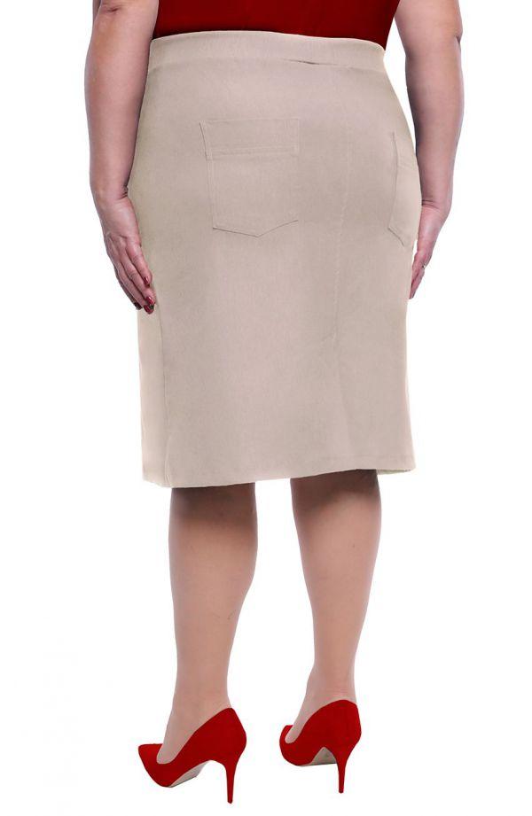 Beżowa spódnica na gumce