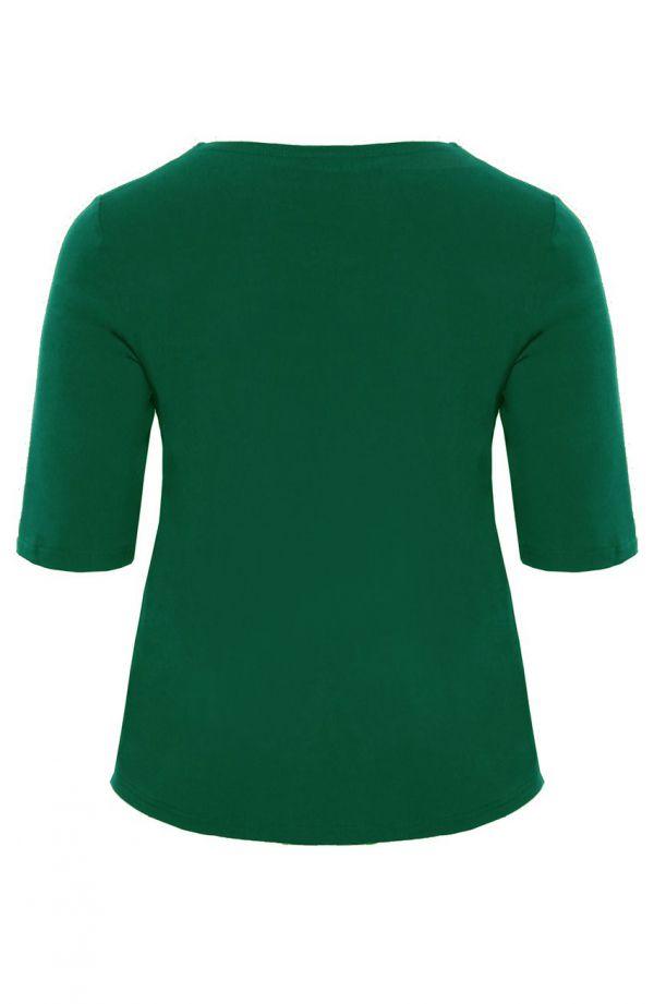Bluzka z dżetami w kolorze ciemnej zieleni