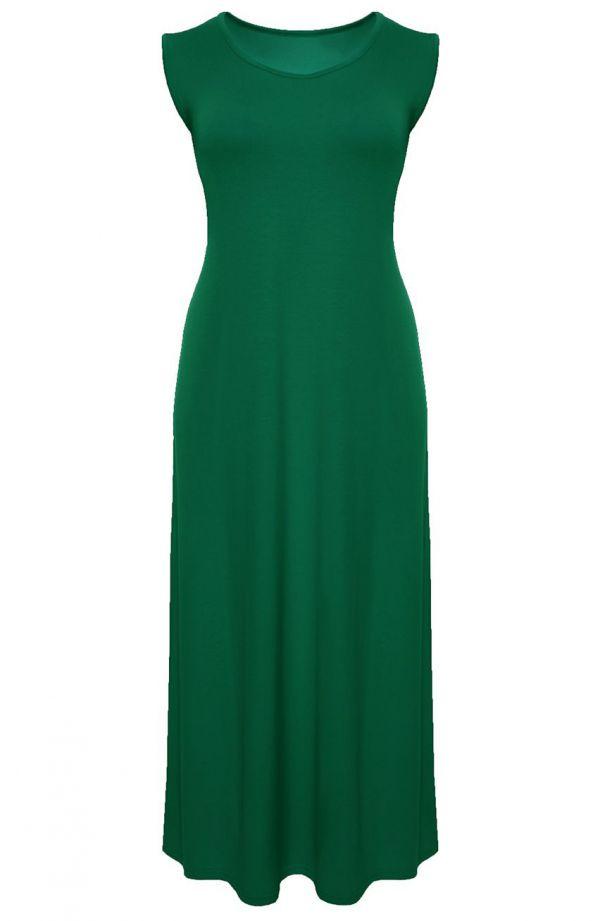 Sukienka maxi w kolorze ciemnej zieleni