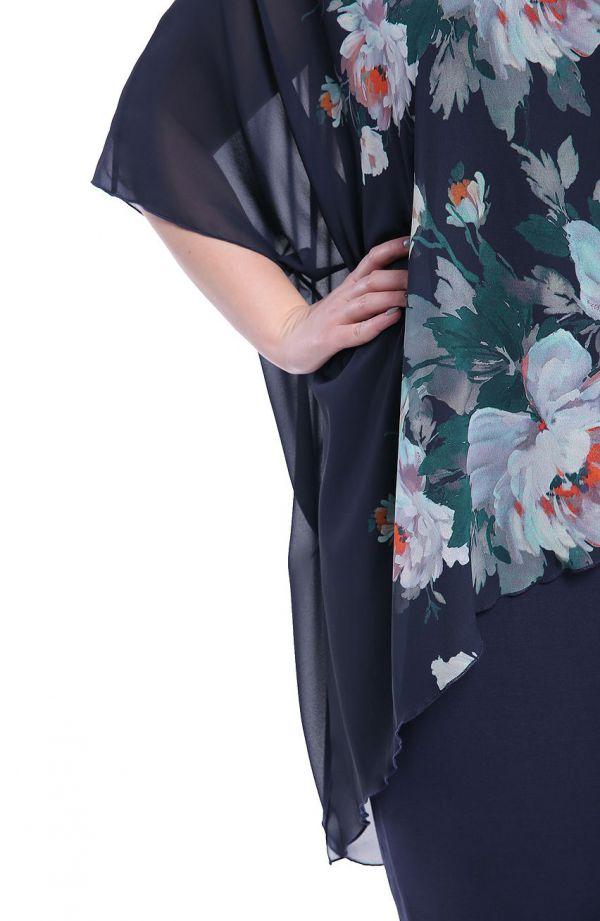 Sukienka z narzutką ogród o zmierzchu