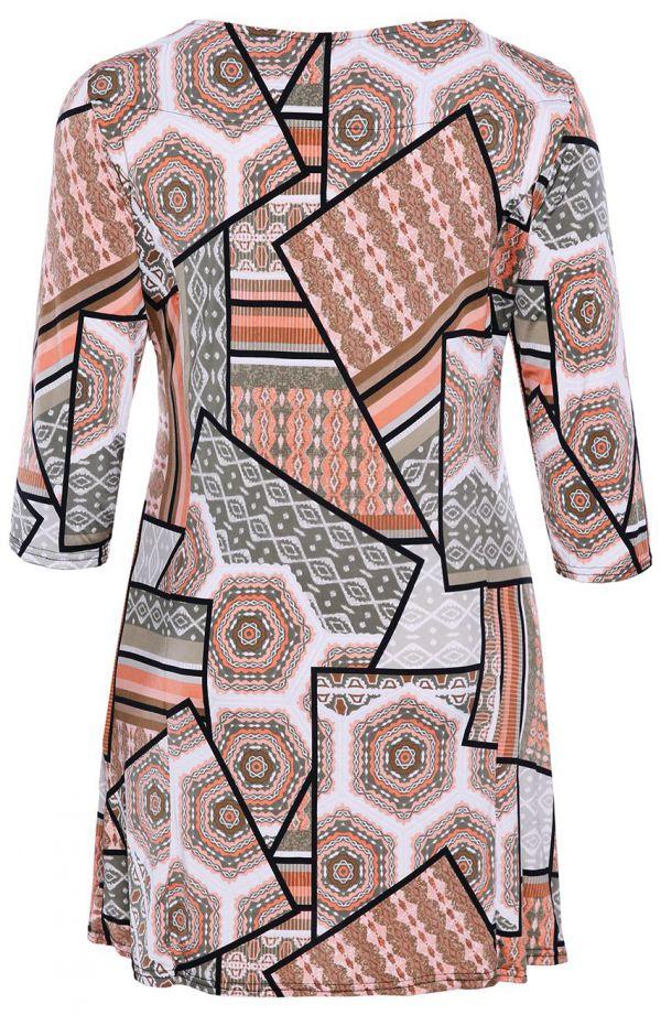 Tunika w pastelowy wzór w marokańskim stylu