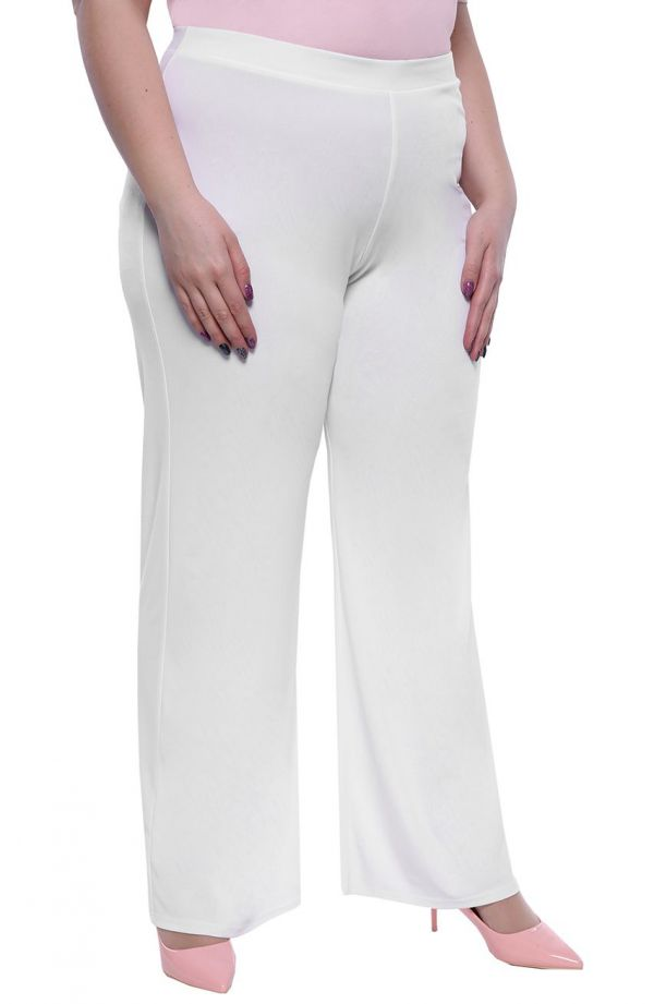 Wizytowe spodnie w białym kolorze