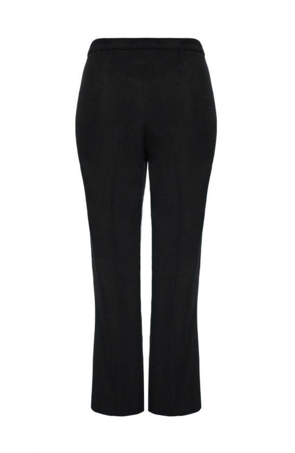 Wygodne czarne spodnie w kant