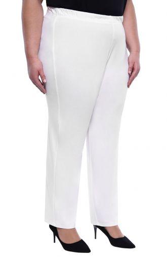 Klasyczne cienkie białe spodnie
