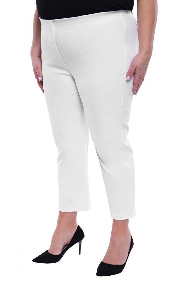Spodnie rybaczki w białym kolorze