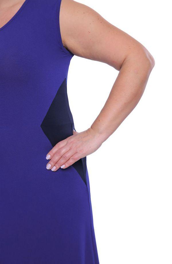 Chabrowa sukienka maxi ze wstawkami