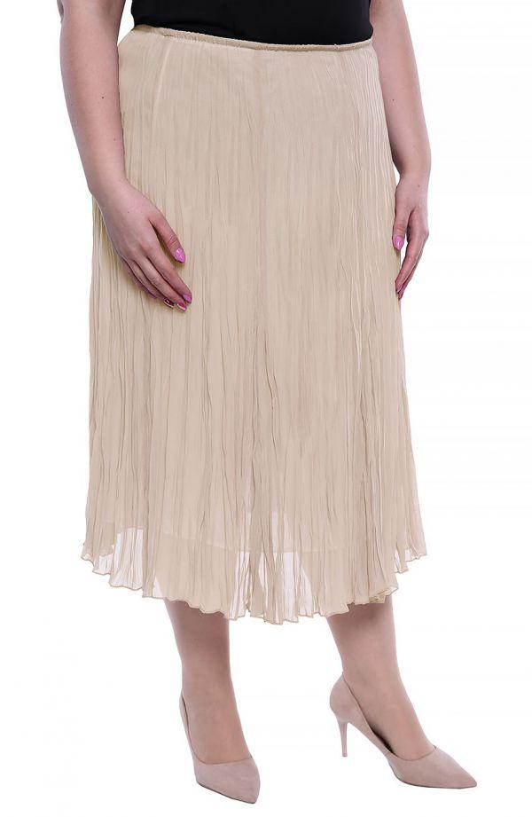 Plisowana spódnica w kolorze beżu