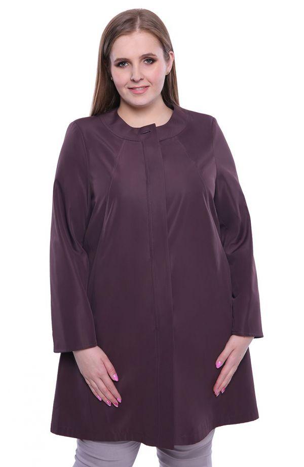 Elegancki płaszczyk w bakłażanowym kolorze