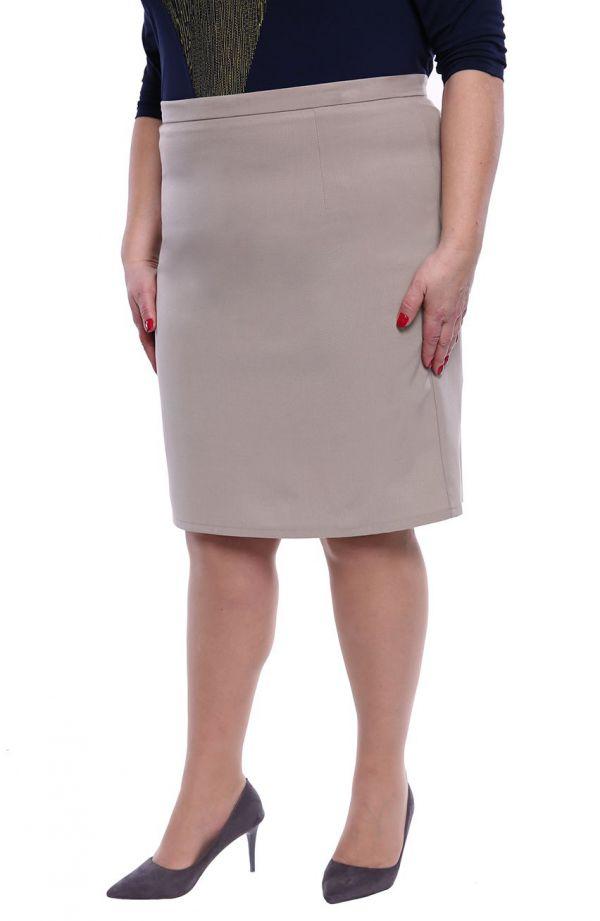 Elegancka spódnica w beżowym kolorze