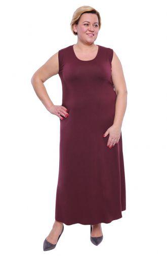 Sukienka maxi w kolorze śliwki