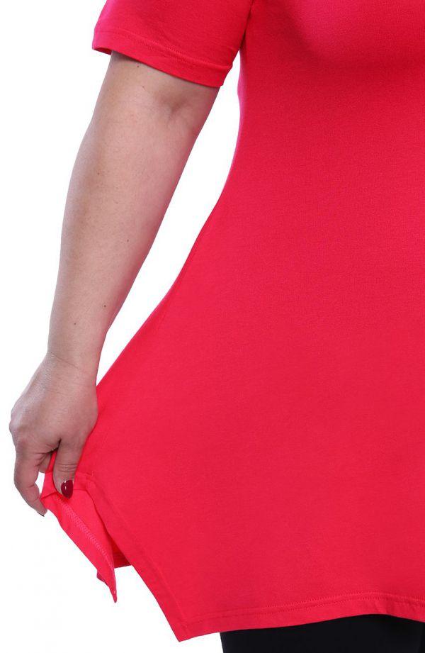 Tunika w kolorze intensywnego różu