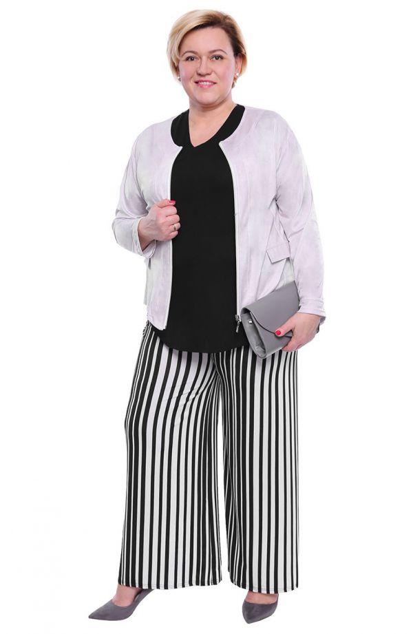 Wizytowe spodnie w pionowe paski