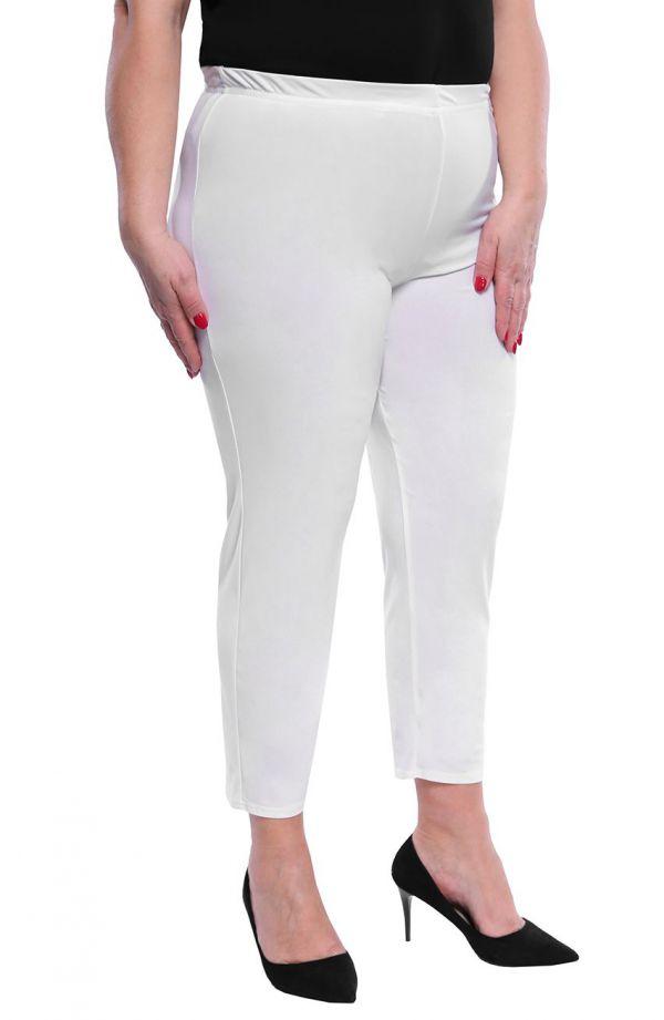 Eleganckie legginsy w kolorze mlecznej bieli