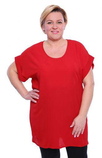 Luźna tunika w kolorze czerwieni